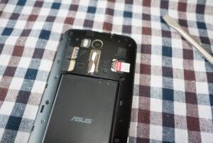 ASUS ZenFone GoのSIMカードスロット